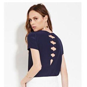 Forever 21 bow back blouse